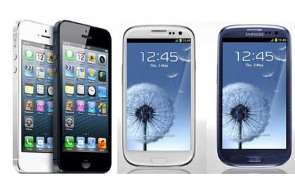 iphone 5s samsung galaxy s3 iPhone 5S Samsung Galaxy S3